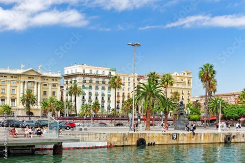 In de dag Cyprus BARCELONA, SPAIN - SEPTEMBER 03: View of the embankment of Barce