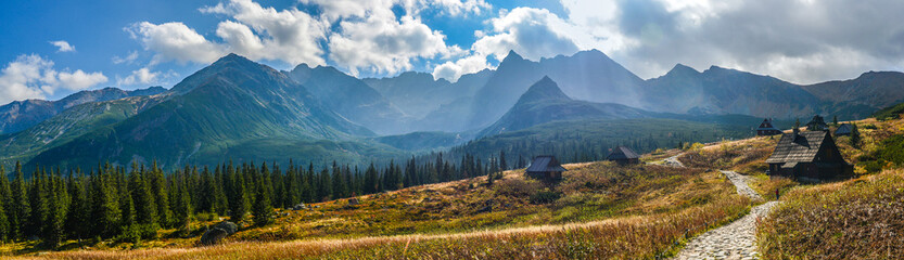 Obraz na Plexi Hala Gasienicowa in Tatra Mountains - panorama