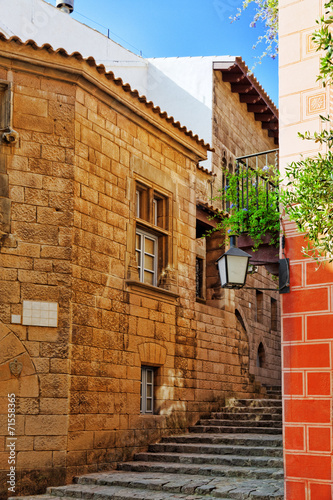 In de dag Barcelona Typical landscapes and authentic Catalan cozy streets in cities