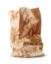 Crumpled Paper Bag With Grease...