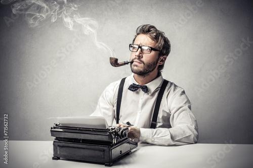 Fotografie, Obraz  Thinking of something to write down