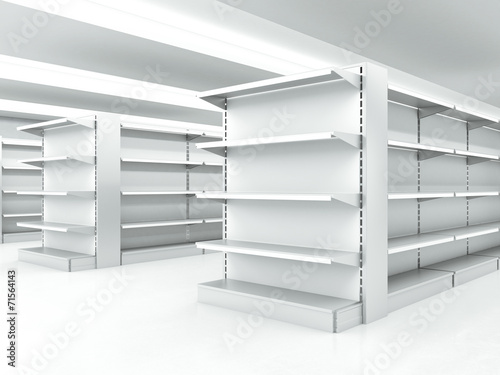 Fotografía  white clean shelves