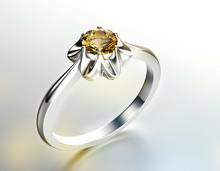 Ring With Diamond. Fashion Jewelry Background