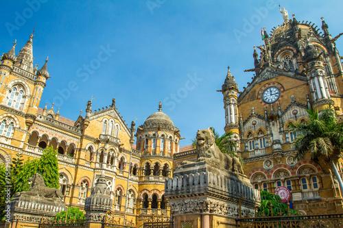 Chatrapati Shivaji Terminus earlier known as Victoria Terminus i Canvas Print
