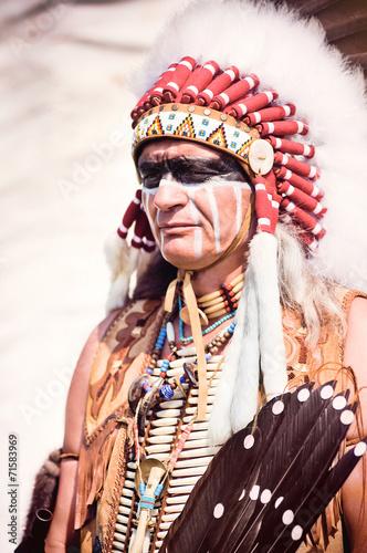fototapeta na lodówkę Portret American Indian wodza