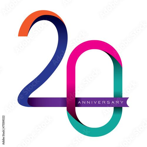 Fotografia  20 years anniversary vector