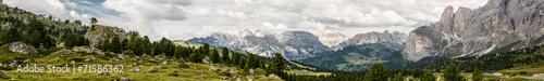 obraz dibond Dolomity Panorama