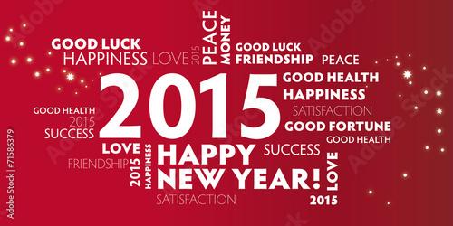Poster  2015 Neujahrsgruss englisch