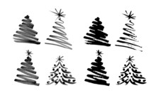 Hand Sketch Christmas Tree. Ve...