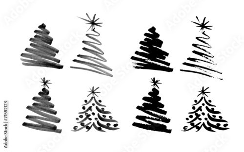 Christmas Tree Vector.Hand Sketch Christmas Tree Vector Illustration Buy This