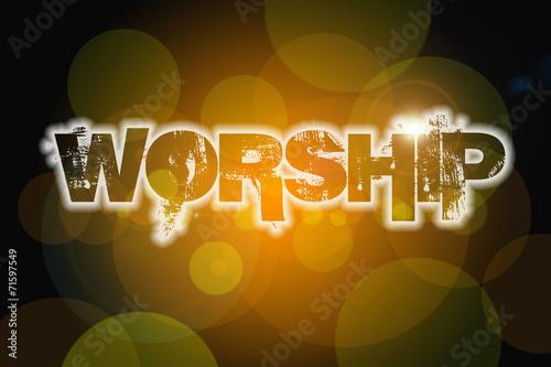 Fotografía  Worship Concept