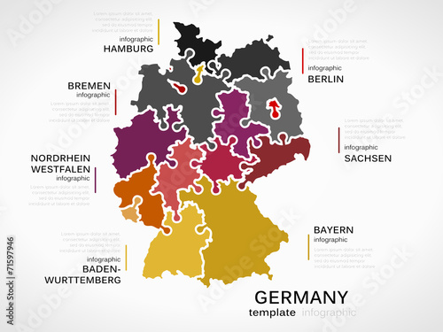Map of Germany Wallpaper Mural