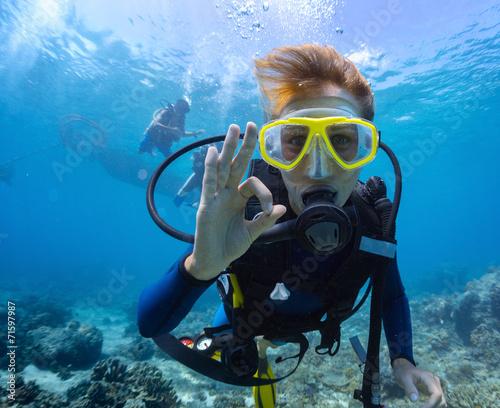 Foto op Plexiglas Duiken Diver