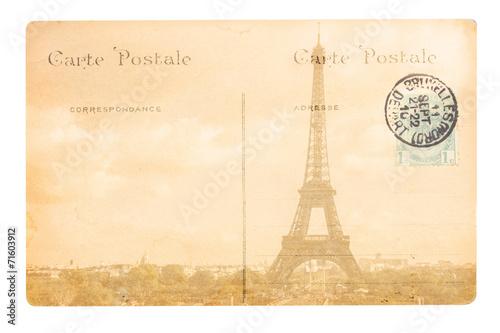 Fotografia  old Paris postcard