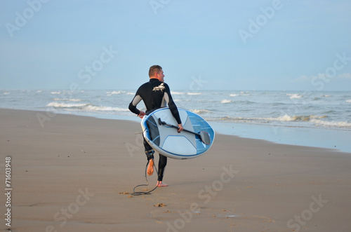 Fotografie, Obraz  surfeur à l'aube