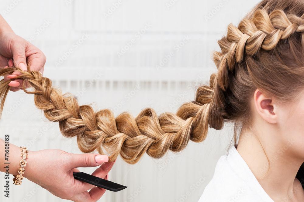 Fototapeta braid girl