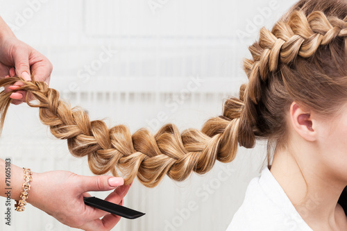 Fotografie, Obraz  braid girl