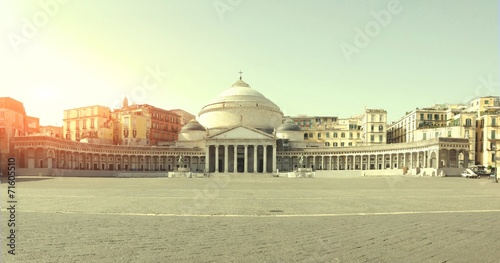 Photo sur Toile Naples Piazza del Plebiscito di Napoli