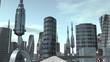 Ride through futuristic city seamless loop