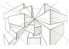 Abstract Architectural Sketch ...
