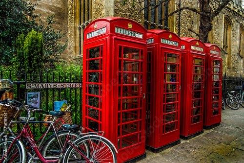 Canvas Print Telephone box/Cambridge