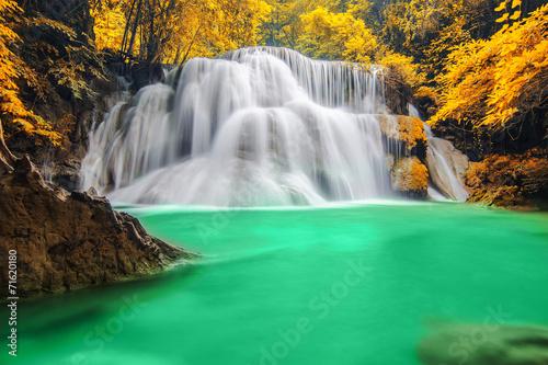 Fototapety, obrazy: Deep forest Waterfall in Kanchanaburi
