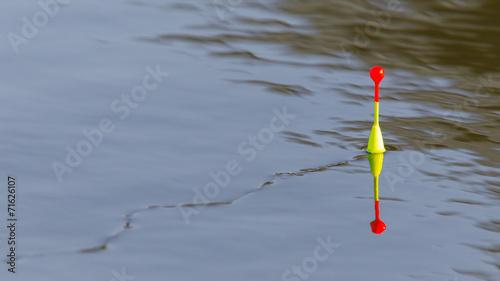 Fotobehang Vissen Fishing float floating