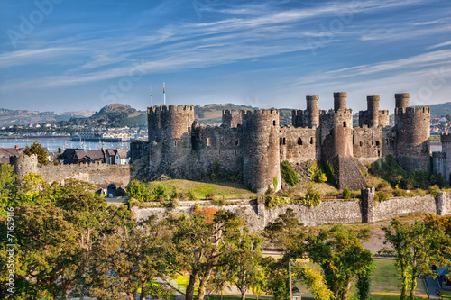 Poster  Conwy Castle in Wales, United Kingdom, series of Walesh castles