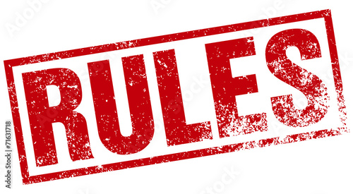 rules stamp Wallpaper Mural