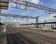 An empty railway station
