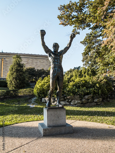 Cuadros en Lienzo  Rocky Balboa Statue
