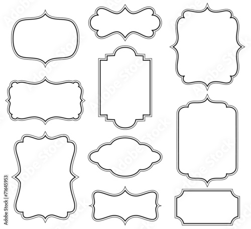 Set of simple decorative frames Wall mural