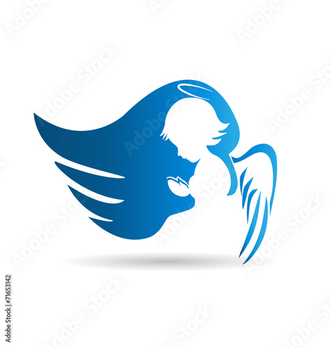 angel logo vector design buy this stock vector and explore similar rh stock adobe com angel logo design creator angel logos and designs