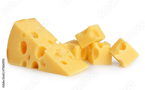 Fototapeta piece of cheese isolated obraz