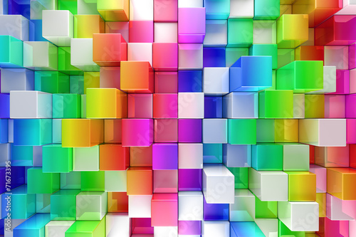 Fototapeta na wymiar Colorful blocks abstract background