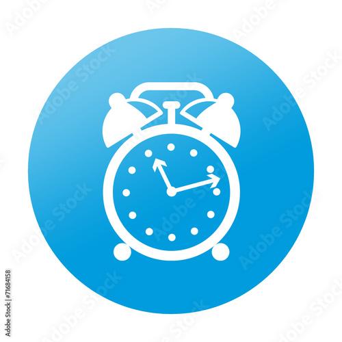 Etiqueta tipo app redonda despertador