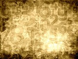 old numbers sepia texture or background