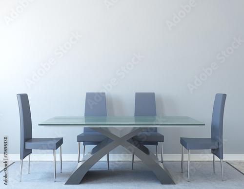 Pinturas sobre lienzo  Dining-room interior.
