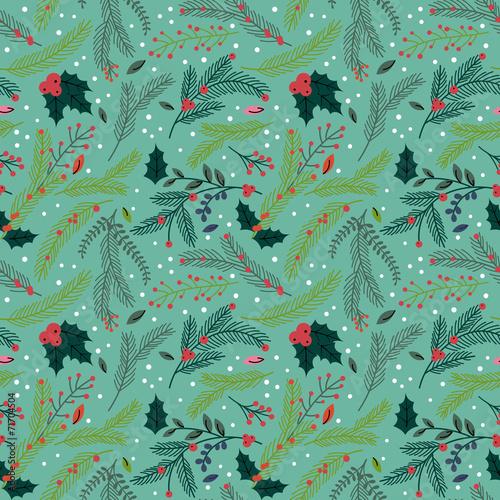 Stoffe zum Nähen Nahtloses aneinander Weihnachten Urlaub Floral Hintergrundmuster-