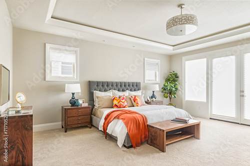 Photo  Beautiful Furnished Bedroom in New Luxury Home