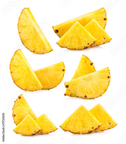 Obraz na płótnie set of pineapple slices images