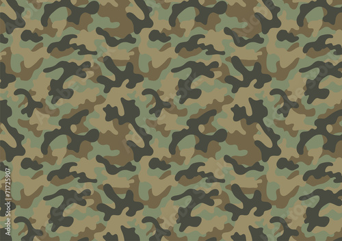 Fotomural  Camouflage seamless pattern