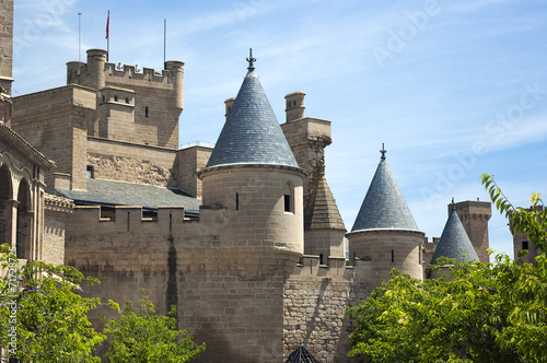 View of Olite castle in Navarre,Spain