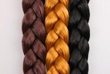 Brown,blonde And Black Hair Braid