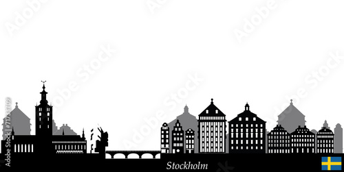 Photo  stockholm skyline