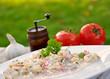 Tortellinisalat und Zutaten
