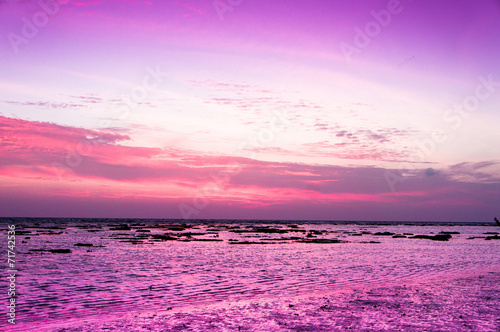 Printed kitchen splashbacks Purple Darkening Heavens Fiery Backdrop