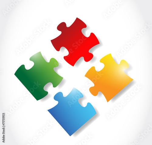 Fotografie, Obraz  colorful puzzle pieces illustration