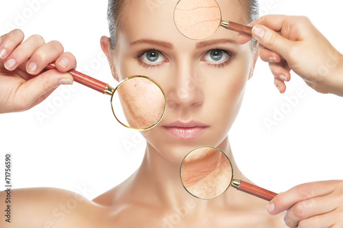 Fotografía  beauty concept anti-aging procedures, rejuvenation, lifting,