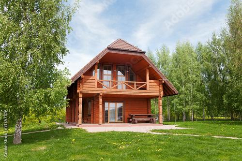 Photo  Wooden cottage.